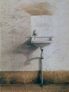 """Old Sink"" watercolo"