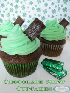 [Recipe] Andes Mint Chocolate Cupcakes - Shannon's View From Here