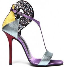 Heels I Love... Diego Dolcini beaded leather T-strap sandal