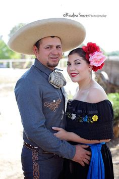 Charro, folklórico, Mexican themed engagement photography.