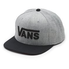 Drop v Snapback Hat (£18) ❤ liked on Polyvore featuring men's fashion, men's accessories, men's hats and mens snapback hats