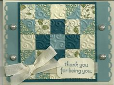 Quilted Card Tutorial by barbaradwyer82 - Cards and Paper Crafts at Splitcoaststampers