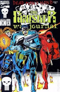 Punisher War Journal (1988 1st Series) 47  Marvel Comics Modern Age Comic book covers Daredevil