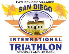 Father Joe's Villages San Diego International Triathlon ALL PROCEEDS of this event are Collected and used by Father Joe's Villages and benefit San Diegians i. Triathalon, Athletic Events, San Diego, Racing, Bucket, Logo, Running, Logos, Triathlon