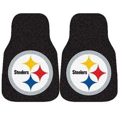 Fanmats 5826 NFL Pittsburgh Steelers Car Mat by Fanmats. $28.09. Protect your vehicle's flooring while showing your team pride with car mats by FANMATS. 100% nylon face with non-skid vinyl backing.  Universal fit makes it ideal for cars, trucks, SUCs, and RVs. The officially licensed mat is chromojet painted in true team colors and designed with a large team logo. Made in USA.. Save 30%!