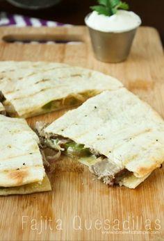 Fajita Quesadillas, a super quick and easy weeknight meal! // www.somewhatsimple.com