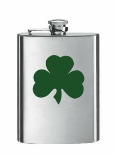 Simran HF-1056 8 oz. Matte Stainless Steel Hip Flask - Shamrock by Simran. $17.00. Manufactured to the Highest Quality Available.. Design is stylish and innovative. Satisfaction Ensured.. Great Gift Idea.. The perfect gift for the traveler or outdoor sports enthusiast Corrosion resistant stainless steel Features a metal-hinged captive top
