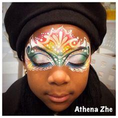 Athena Zhe mask face paint