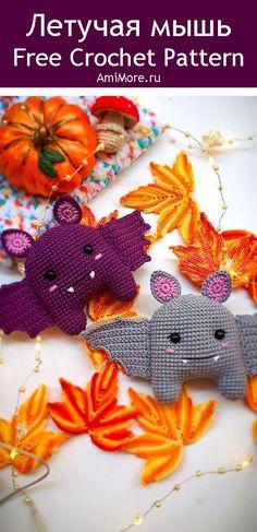 PDF Летучая мышь крючком. FREE crochet pattern; Аmigurumi animal patterns. Амигуруми схемы и описания на русском. Вязаные игрушки и поделки своими руками #amimore - Летучая мышь, мышка, мышонок, Хэллоуин, Halloween, bat, rat rata, rato, ratte, szczur, szczur, mouse, ratón, maus souris, mysz myši. Amigurumi doll pattern free; amigurumi patterns; amigurumi crochet; amigurumi crochet patterns; amigurumi patterns free; amigurumi today.
