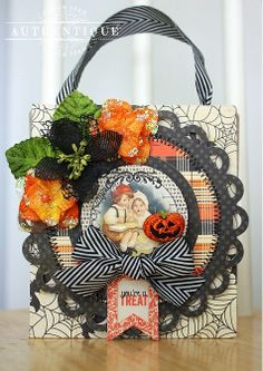 Thrilling All-In-One Treat Box by Authentique Paper Design Team Member Shellye McDaniel