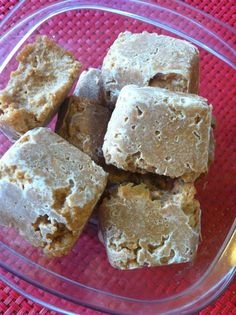 Peanut Butter Sweet Potato Dog Treats - freeze and use to stuff a Kong dog toy, or just give them as a cool summer treat.