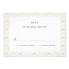 Deco Seigaiha Wedding RSVP Custom Invites