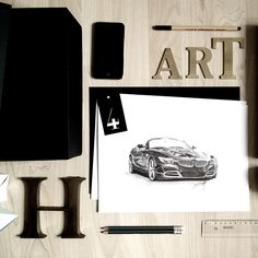 You might order a personalized drawing of your car now, just click the image to see my shop  #drawing #pencil #art #artwork #artist #artistic #sketch #bmw #z4 #blackandwhite #black #pinterest #iphoneography