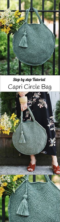 #Crochet Capri Circle Bag