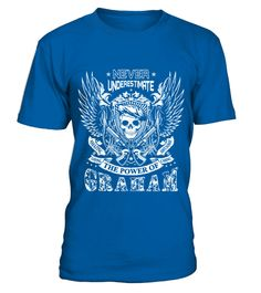 # GRAHAM NEVER UNDERESTIMATE .  GRAHAM NEVER UNDERESTIMATE  A GIFT FOR SPECIAL PERSON  It's a unique tshirt, with a special name!   HOW TO ORDER:  1. Select the style and color you want:  2. Click Reserve it now  3. Select size and quantity  4. Enter shipping and billing information  5. Done! Simple as that!  TIPS: Buy 2 or more to save shipping cost!   This is printable if you purchase only one piece. so dont worry, you will get yours.   Guaranteed safe and secure checkout via:  Paypal…