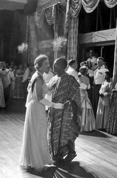Duchess of Kent dancing with the Ghanaian Prime Minister, Kwame Nkrumah, at the Ghana independence ceremonies.  Accra, Ghana.  March 1957 |