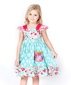 Another great find on #zulily! Blue Kortori Cally Dress - Infant, Toddler & Girls #zulilyfinds