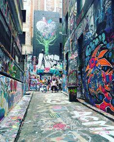 Hosier Street Art Lane - Melbourne, Australia.