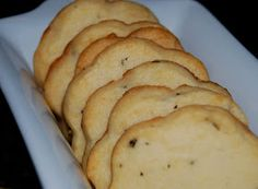 I have made these! They are the most delicious savory sweet cookies EVER!! Rosemary Parmesan Shortbread Cookies.