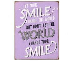 Decoratiune de perete Change The World Don't Let, Let It Be, Change The World, Your Smile, You Changed, Cover, Products, Wall Hanging Decor, Wall Design