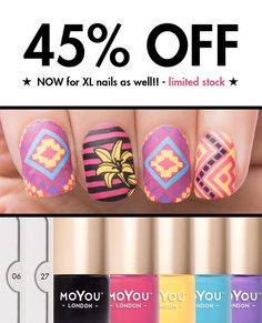 IT'S FRIDAY! The weekend is nearly here!! Lets celebrate with a #manibox Go get your hands on our limited Aztec themed mani box. THIS WEEK you can pick either XL or regular plates WHOOP WHOOP! Grab one before they're GONE!