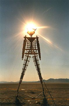 #burningman The man on the playa without base. Unable to tell what year this was taken on the Pinterest app for iPhone.