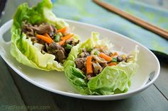 Crispy, refreshing, and filling, these Mu Shu Jackfruit Lettuce Wraps are the perfect lunch.