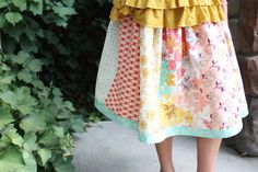 Quick and Easy Fat Quarter Skirt Tutorial - Diary of a Quilter - a quilt blog