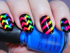 Love the zigzag ombre.