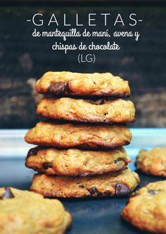 Galletas de Mantequilla de Maní, Avena y Chispas de Chocolate (LG)