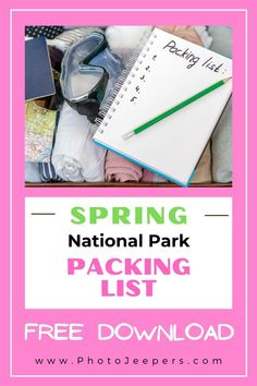 When it's time to start packing for your trip, use our Spring Packing List for National Parks so you don't leave anything behind! List of daypack items, hiking gear, clothing and other essentials you need for your spring national park vacation. Utah Vacation, Spring Vacation, Us National Parks List, Visit Utah, Hiking With Kids, Family Road Trips, Packing Tips For Travel, Trip Planning, Travel Photography