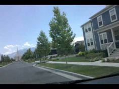 Driving through a quiet neighborhood in Utah.