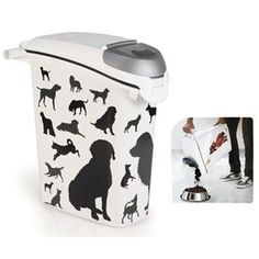 Curver fôrboks helleåpn. 23 liter -10kg Dogs Canning, Tableware, Dinnerware, Dishes, Home Canning, Place Settings