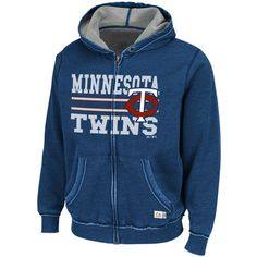 Baseball season is here, even if Winter remains reluctant to give up. Keep yourself warm during these early season games with this Twins Proven Winner Full-Zip Hooded Sweatshirt by Majestic Athletic!