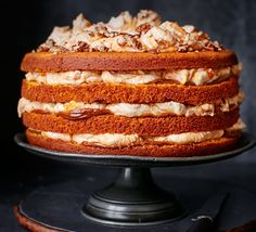 This cake uses a few shortcuts but the final result is a deliciously impressive dulce de leche and pumpkin spice-filled sponge