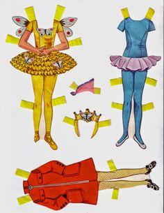 Bonecas de Papel: Mais bailarinas para nossa coleção