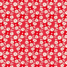 Liberty Fabric - Millie B Red