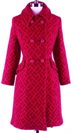 1960s hot pink coat. Gorgeous for Christmas.