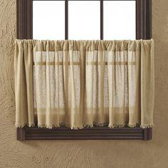 Francoise Cloth Khaki Fringed Tier Curtain #birchlane