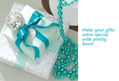 Turquoise and White Christmas Decor