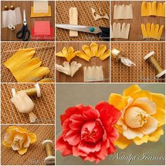 How to make Surprise Candy Flower step by step DIY tutorial instructions, How to, how to make, step by step, picture tutorials, diy instructions, craft, do it yourself