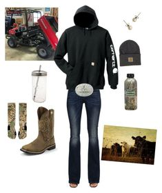 A fashion look from December 2016 featuring carhartt hoodies, diesel jeans and white socks. Browse and shop related looks. Cute Cowgirl Outfits, Camo Outfits, Teen Girl Outfits, Western Outfits, Cute Casual Outfits, Western Wear, Outfits For Teens, Western Boots, Redneck Outfits