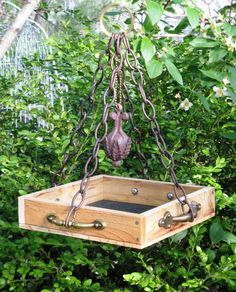 Fit For A King - Hanging Cedar Bird Feeder Tray, Eco Friendly, Recycled…