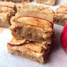 Apple Pie Cookie Dough Blondie Bars!