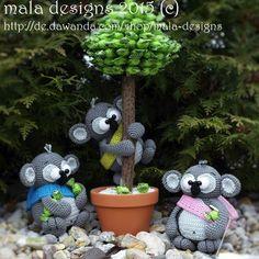 Garnpaket - Eukalyptusbären, klein von wolldiskont feat. mala designs & babsie´s hook auf DaWanda.com