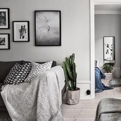 Grey tones and the 'Getaway' print from our shop on the wall // Styling by Photo by by theposterclub Interior Styling, Interior Design, The Way Home, Luxury Living, Cozy House, Sweet Home, Lounge, Living Room, Bedroom
