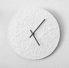 Minimalist Wall Clock, Decor and Housewares, White Wall Clock, Home and Living,Recycled Art, Home Decor, Unique Gift,