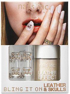 Pin for Later: 28 Cadeaux Pour les Fans de Nail Art  Nails Inc Bling It On Leather & Skulls vernis à ongles - rose gold (24€)