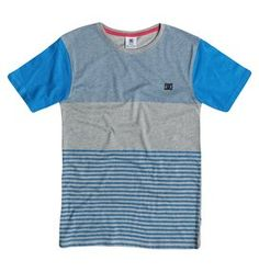 dcshoes, Boy's 8-16 In The Mix Tee, Skydiver (bqw0)