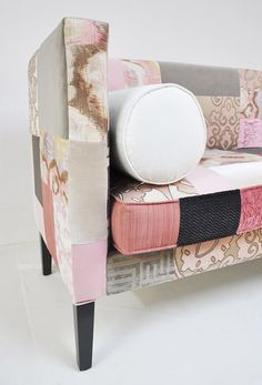 OMG OMG I LOVE THISSSSS!!!!! Topshop! I wanna try this! Upholster your old couches and chairs with an old quilt, or just make a quilt and use that! Yay!